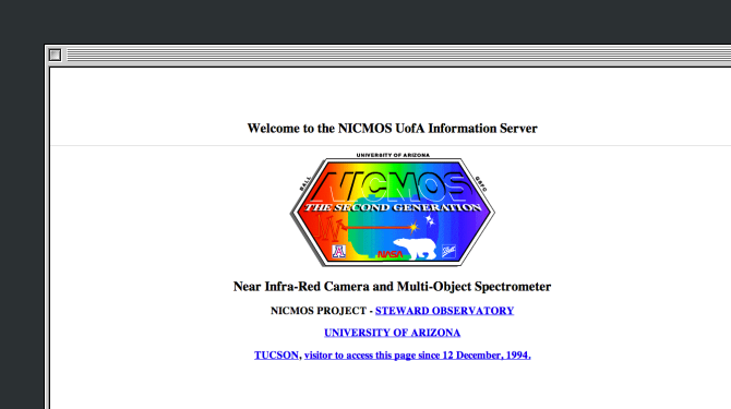 The best of active websites of the early graphical internet