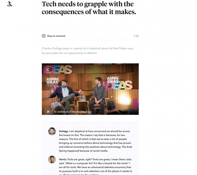 Behind our redesign for the Aspen Ideas Festival